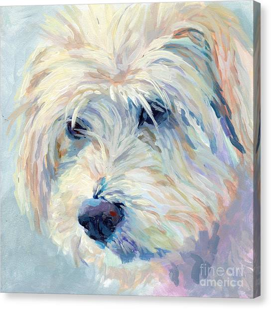 Breed Canvas Print - A Natural Blonde by Kimberly Santini
