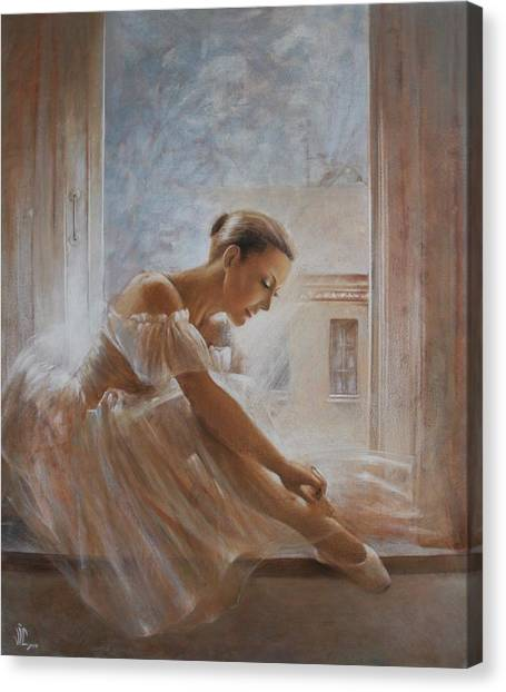 A New Day Ballerina Dance Canvas Print