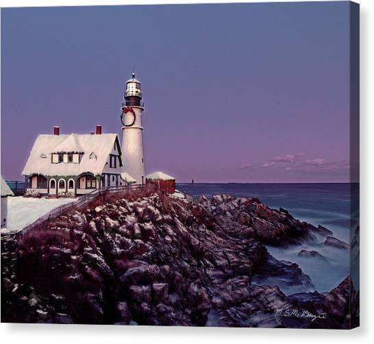 A New England Christmas Different Format Canvas Print by M S McKenzie