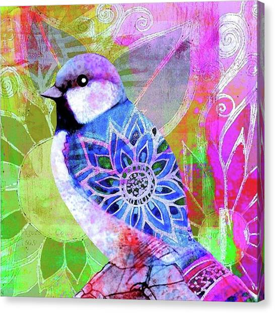 Animals Canvas Print - A New Little Digital Bird by Robin Mead