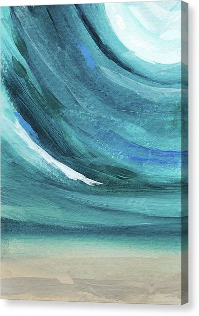 Waves Canvas Print - A New Start- Art By Linda Woods by Linda Woods