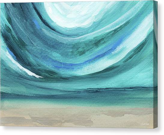 Coastal Landscape Canvas Print - A New Start Wide- Art By Linda Woods by Linda Woods