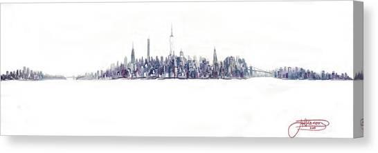 A New Year In Manhattan Canvas Print
