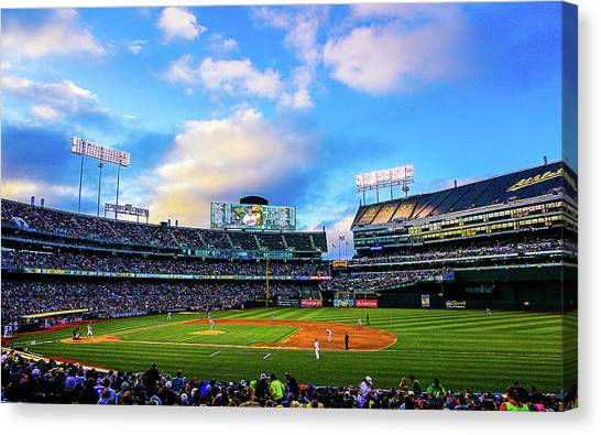 Oakland Athletics Canvas Print - A Night At The Ballpark by Brooks Creative -Photography and Artwork By Anthony Brooks