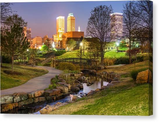 Centennial Canvas Print - A Night At The Park - Tulsa Oklahoma by Gregory Ballos