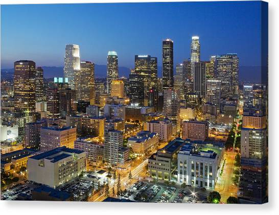 Los Angeles Canvas Print - A Night In L A by Kelley King