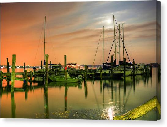 A Night Out At The Marina Canvas Print by JC Findley