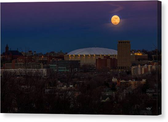 City Landscape Canvas Print - A Night To Remember by Everet Regal