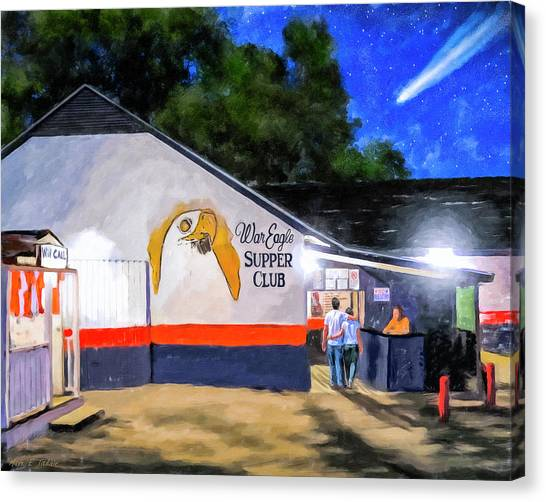 Alabama Canvas Print - A Night To Remember In Auburn by Mark Tisdale
