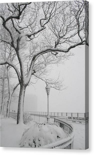 A Nor'easter In Brooklyn Canvas Print