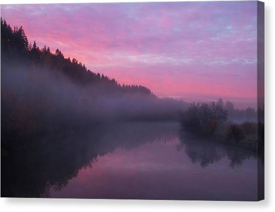 A November Sunrise Canvas Print by Angie Vogel