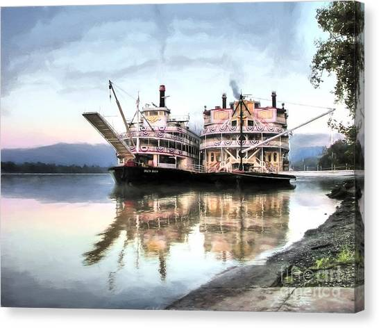 A Pair Of Queens Canvas Print by Mel Steinhauer