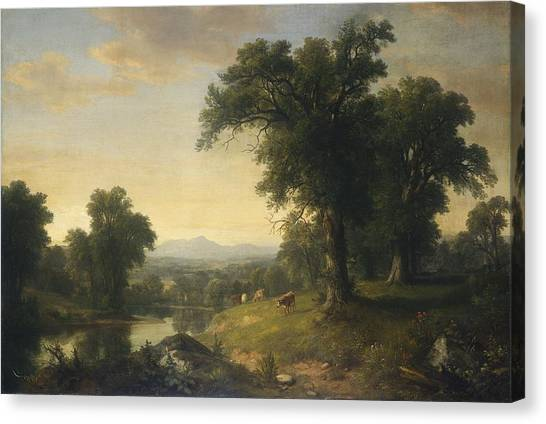 Canvas Print - A Pastoral Scene by Asher Brown Durand