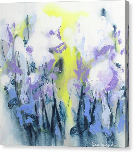 Canvas Print - A Patch Of Purple by Claire Desjardins