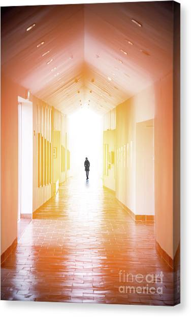 Hallway Canvas Print - A Path That Never Ends by Evelina Kremsdorf
