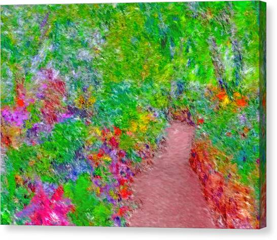 Canvas Print featuring the digital art A Path Through Eden by Digital Photographic Arts