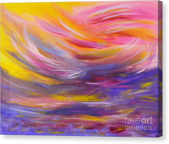 A Peaceful Heart - Abstract Painting Canvas Print