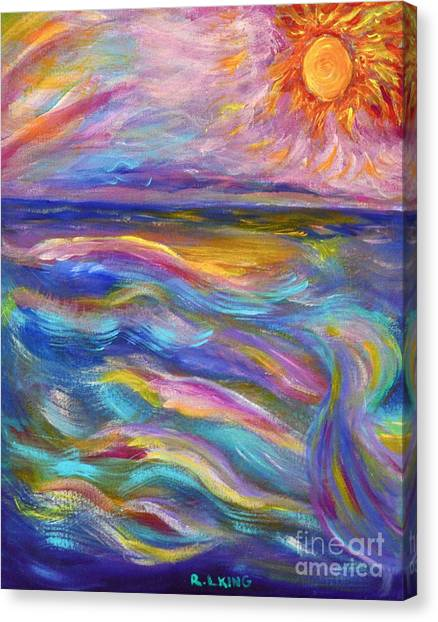 A Peaceful Mind - Abstract Painting Canvas Print