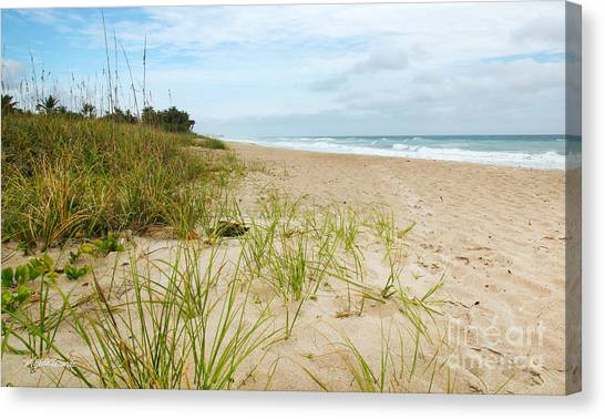 A Peaceful Place By The Sea Canvas Print