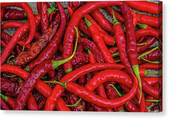 A Peck Of Unpickled Peppers Canvas Print