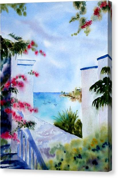 A Peek At Paradise Canvas Print