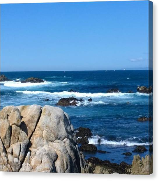 Beaches Canvas Print - A Perfect Day For A Drive To #santacruz by Shari Warren