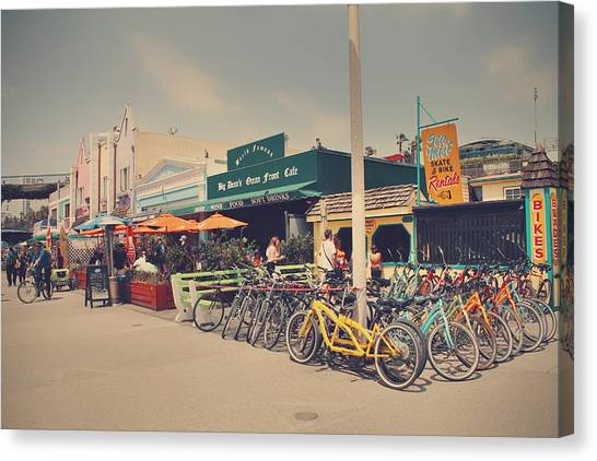 Santa Monica Canvas Print - A Perfect Day For A Ride by Laurie Search