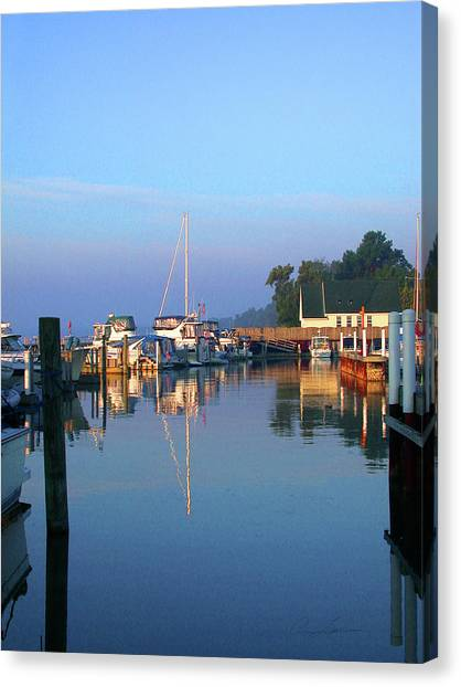 A Perfect Tawas Morning Canvas Print
