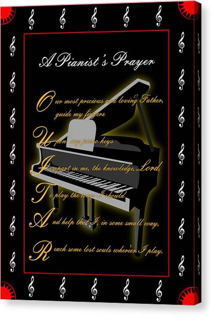 A Pianists Prayer_1 Canvas Print by Joe Greenidge