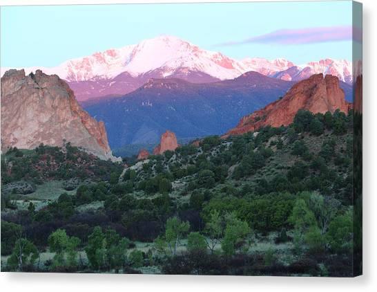 A Pikes Peak Sunrise Canvas Print