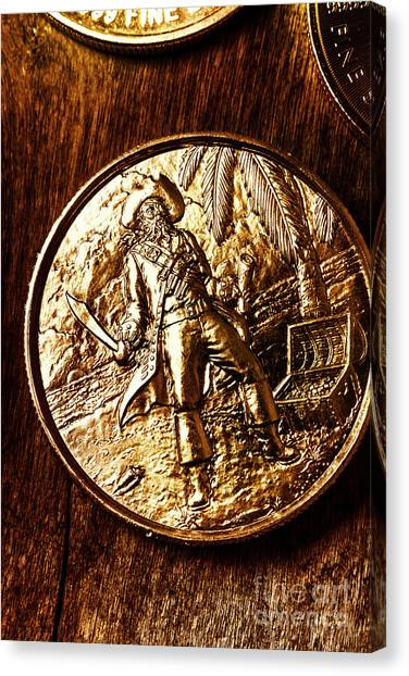 Coins Canvas Print - A Pirates Treasure by Jorgo Photography - Wall Art Gallery