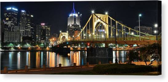 Roberto Clemente Canvas Print - A Pittsburgh Panorama by Frozen in Time Fine Art Photography