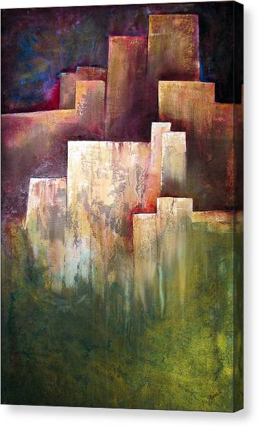 City-scapes Canvas Print - A Place For Solace by Shadia Derbyshire