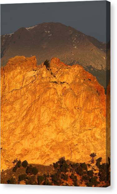 Cathedral Rock Canvas Print - A Place In The Sun by Eric Glaser