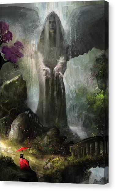Angel Falls Canvas Print - A Place To Ponder by Steve Goad