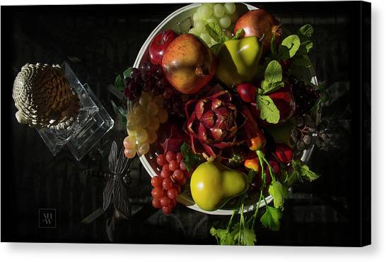 A Plate Of Fruits Canvas Print
