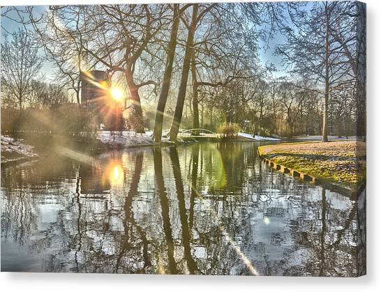 A Pond In Rotterdam Canvas Print