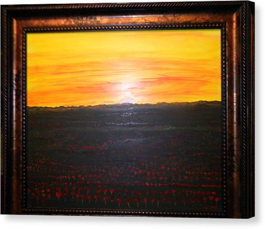 A Poppy Sunset Canvas Print by Chris Heitzman