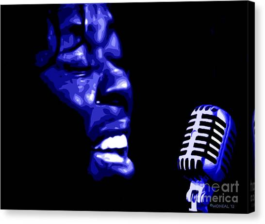 A Portrait Of Sarah Vaughan 1 Canvas Print