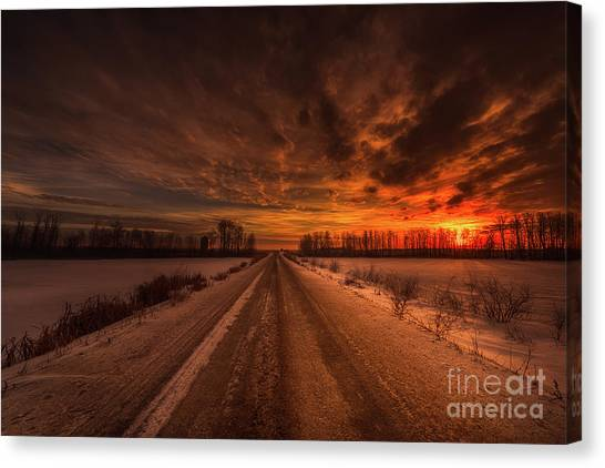 Prairie Sunrises Canvas Print - A Prairie Morning by Ian McGregor