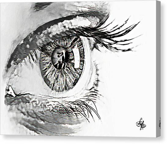 A Prayerful Eye Canvas Print