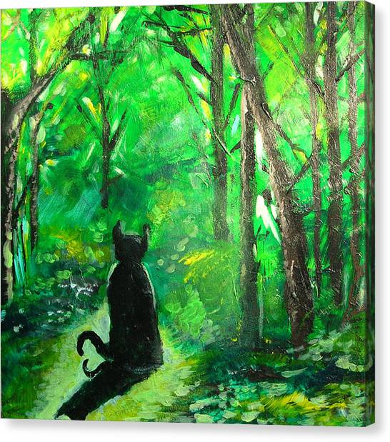 A Purrfect Day Canvas Print