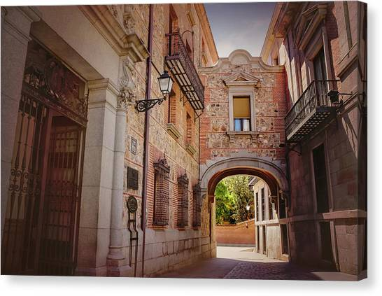 Madrid Canvas Print - A Quiet Little Corner Of Madrid  by Carol Japp