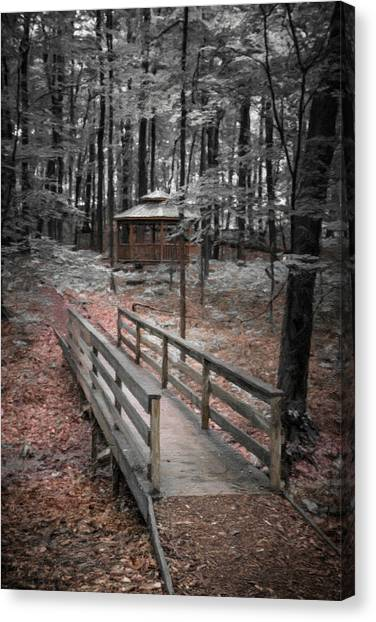 Arbor Canvas Print - A Quiet Place by Tom Mc Nemar