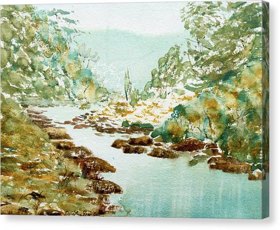 A Quiet Stream In Tasmania Canvas Print