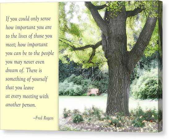 A Quote To Remember Canvas Print