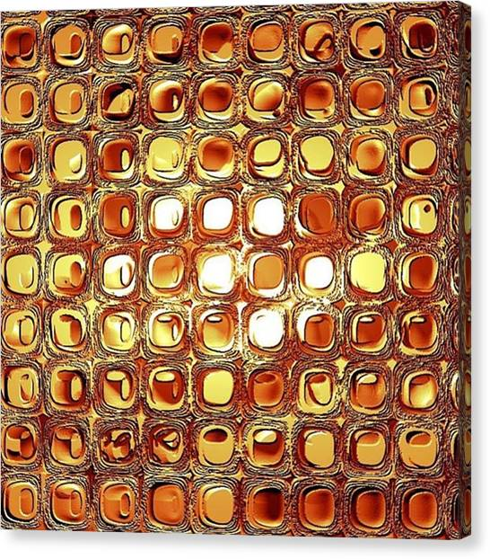 Metallic Canvas Print - A Rectangle Of Repeating Reflective Rectilinear Reliefs by Jason Freedman