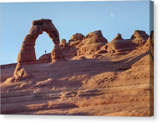 A Red Rock Wonderland. Canvas Print