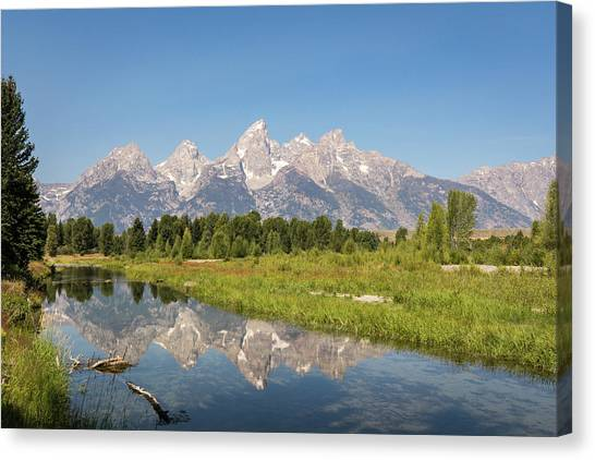 A Reflection Of The Tetons Canvas Print