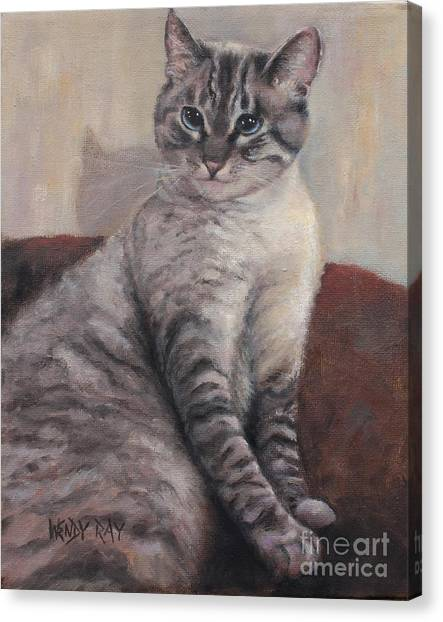 A Regal Pose Canvas Print